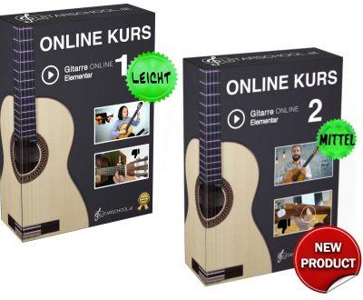 Gitarre Onlinekurs 1 und 2