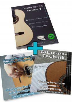 Gitarre ONLINE Elementar 3 + Nagelform Gitarrentechnik